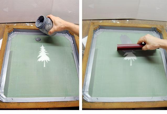 Выкладывание краски