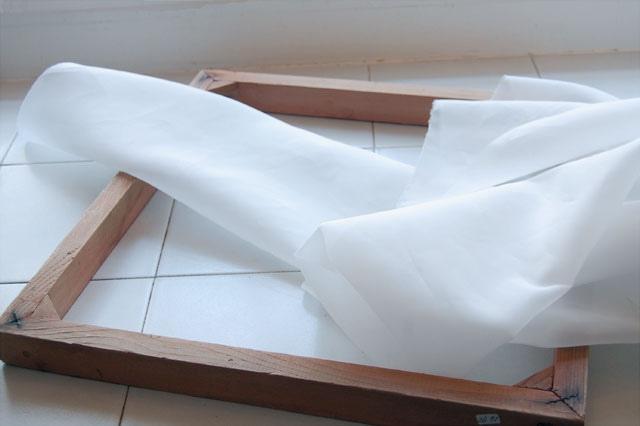 Рамка для шелкографии, изготовление